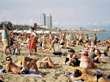 """Busy Beach Day"" Barcelona  July 2013"