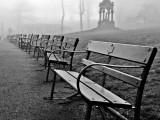 """Fogbound Benches"" Llandudno 2009"